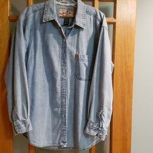Denim women's long-sleeved shirt, XL